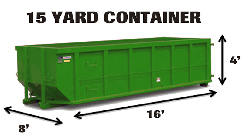 15 yard dumpster rental near you in Connecticut, CT
